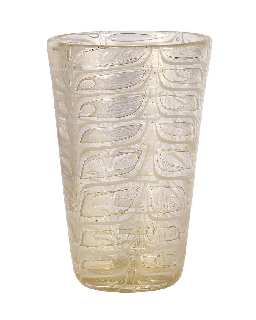 """Barovier & Toso """"Grafitto"""" vase circa 1969, having a"""