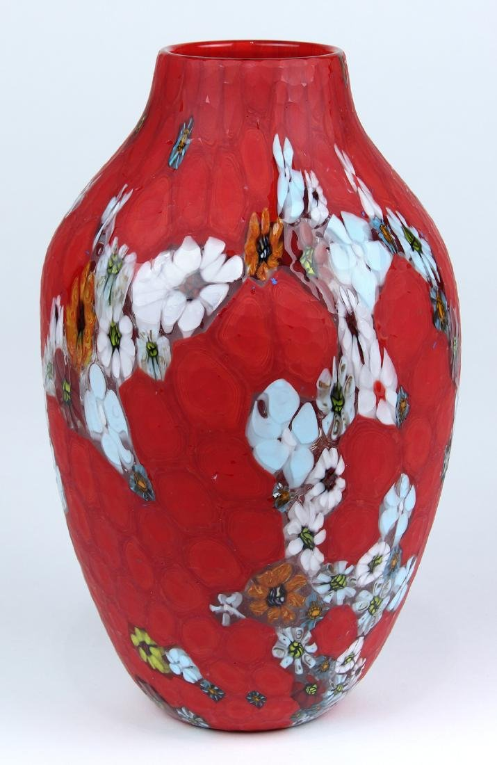 """Ermanno Toso for Fratelli Toso """"Marquetry"""" vase"""