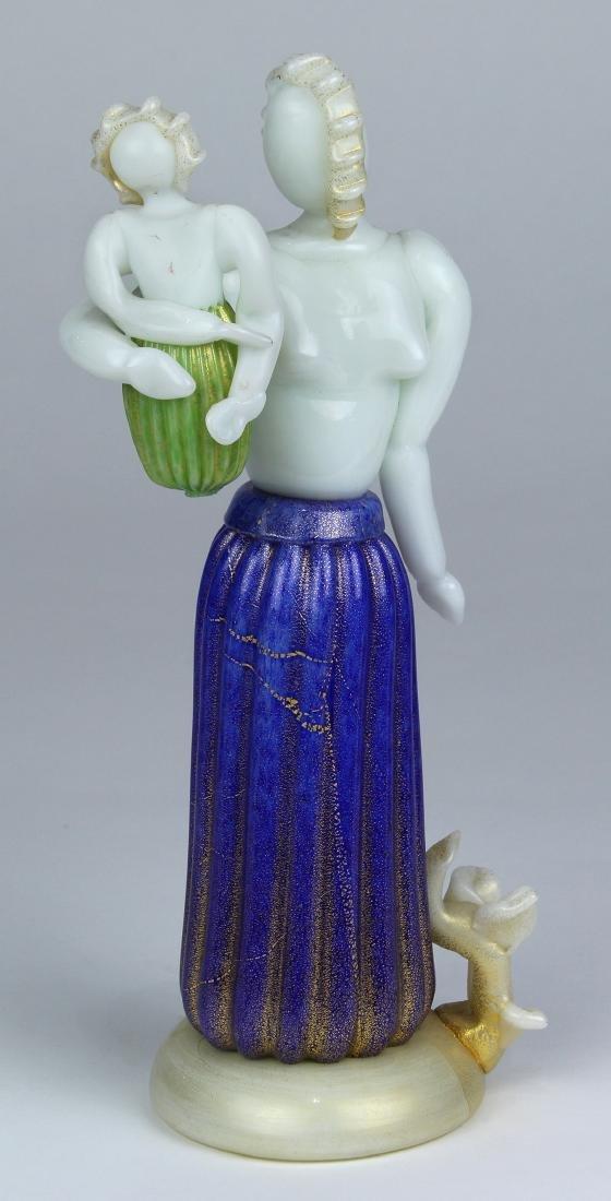 "Ercole Barovier ""Maternity"" series art glass figural"