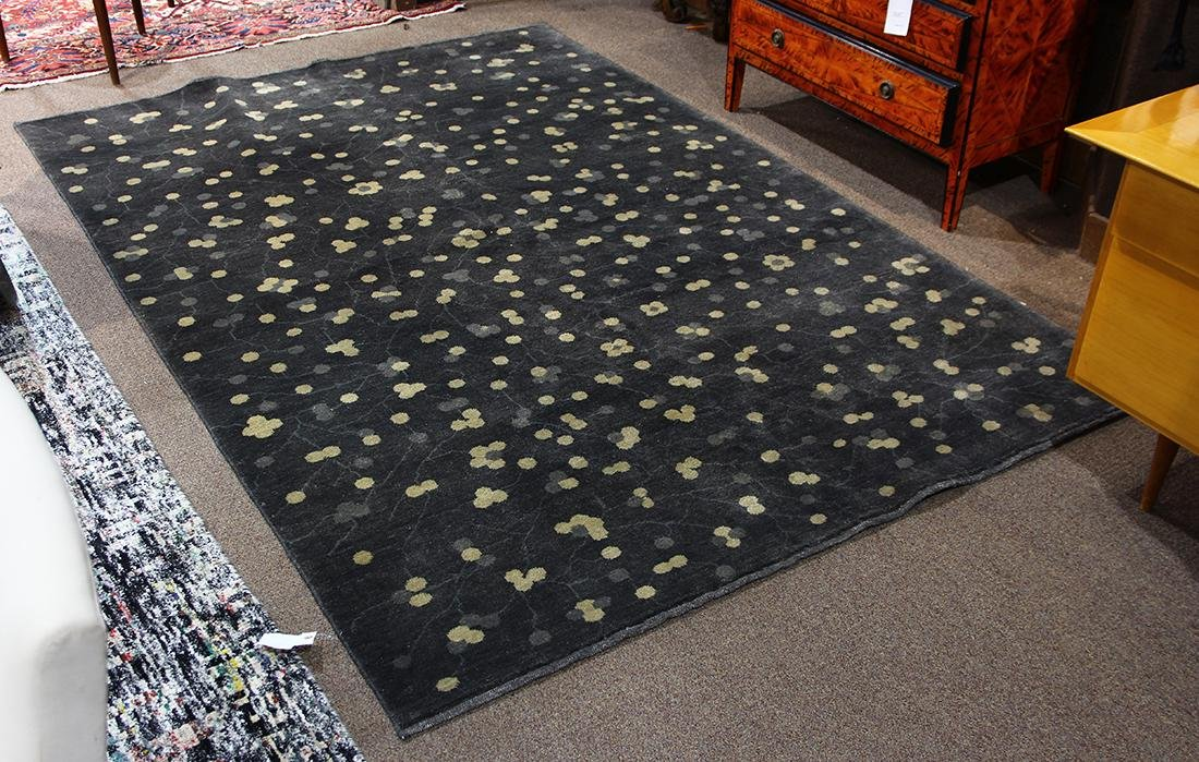 Contemporary hand made wool carpet