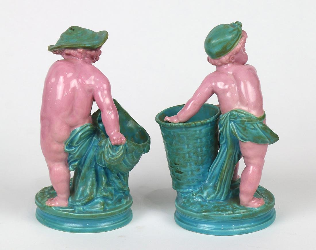 (lot of 2) Royal Worcester majolica figural sculptures - 3