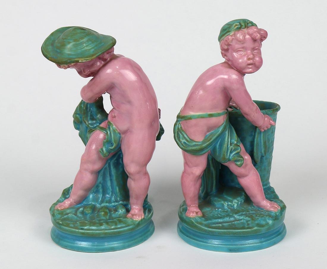 (lot of 2) Royal Worcester majolica figural sculptures - 4