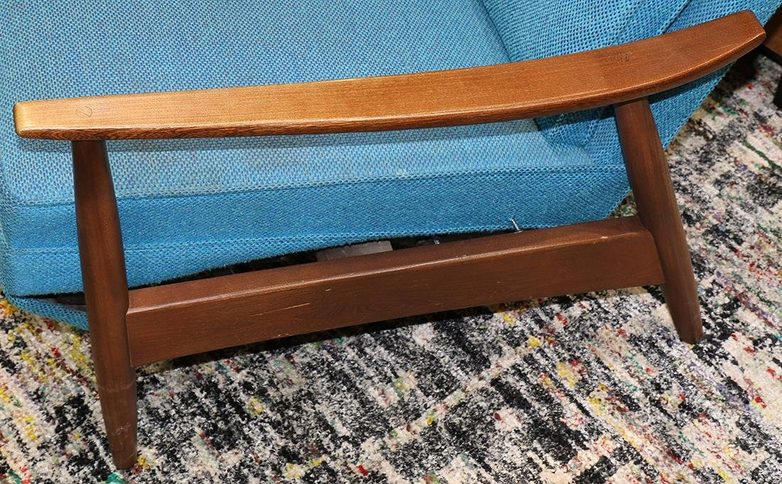 (lot of 2) Mid Century lounge chair group circa 1960 - 4