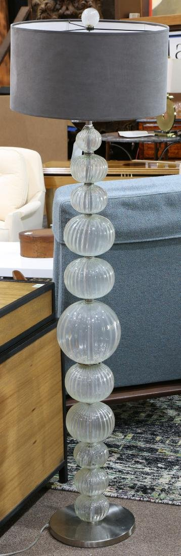 Venetian glass floor lamp
