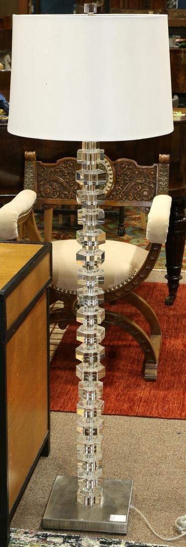 Contemporary acrylic geometric form floor lamp