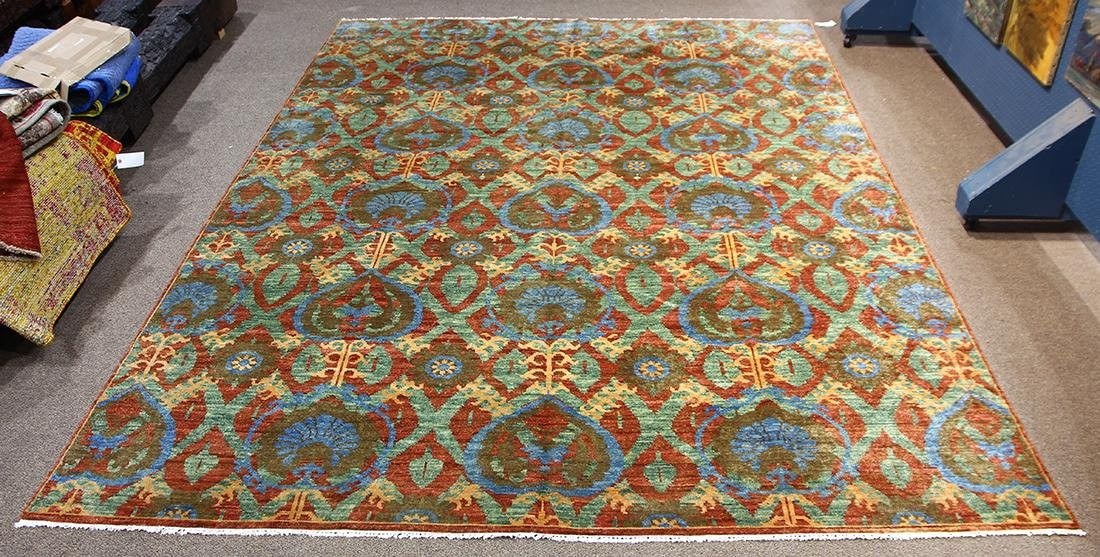 William Morris style Arts and Crafts hand made wool