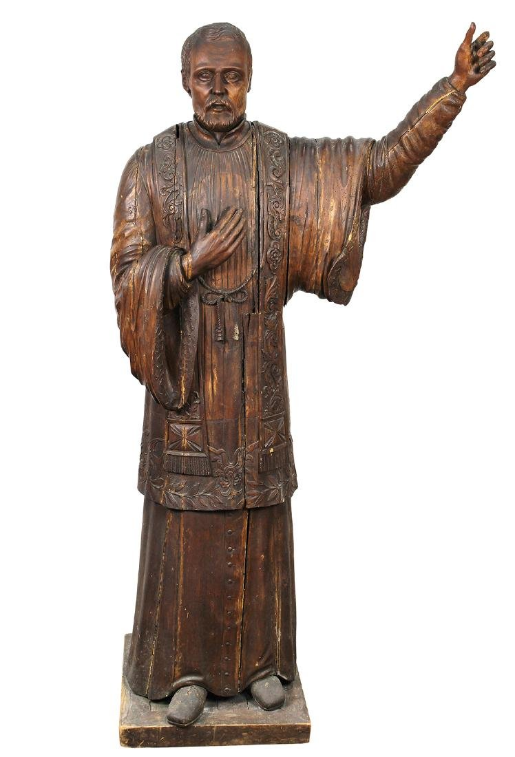 Russian carved Roman Catholic icon Saint Francis Xavier