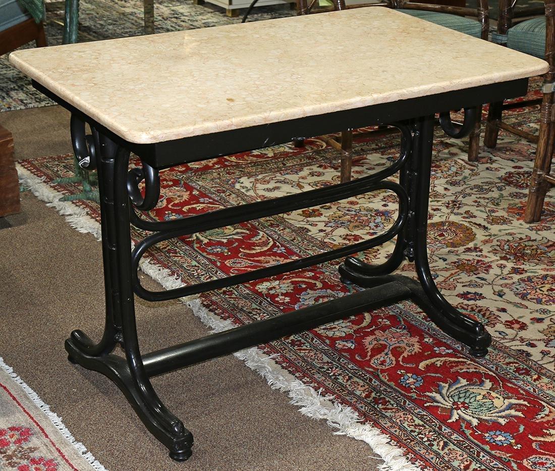 Thonet style ebonized bentwood center table
