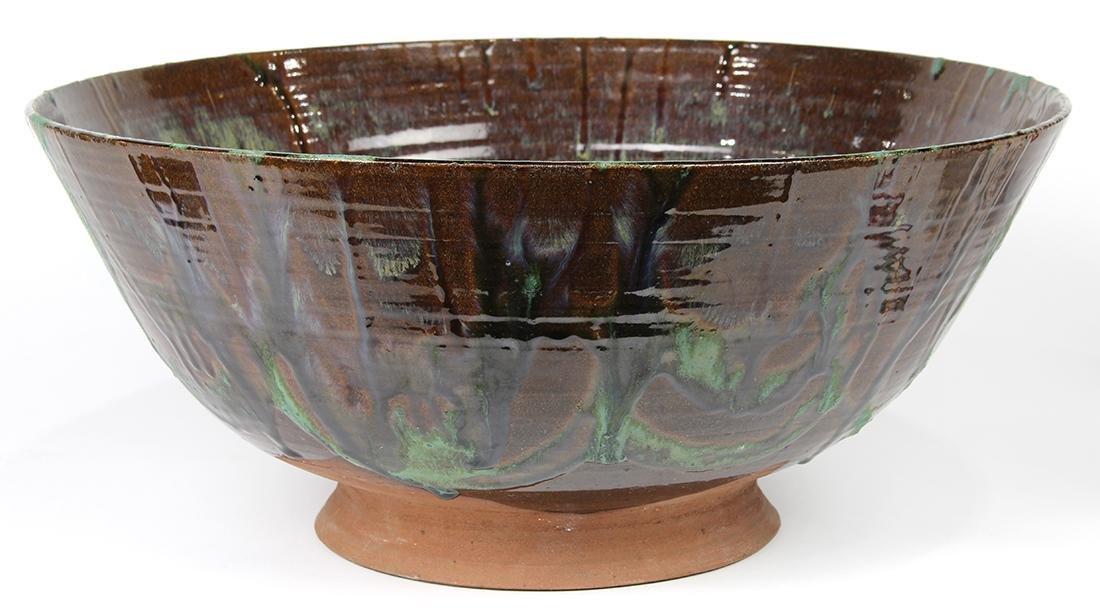 Art pottery center bowl - 2