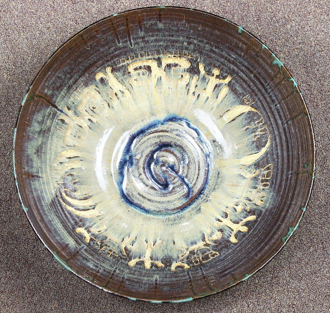 Art pottery center bowl - 3