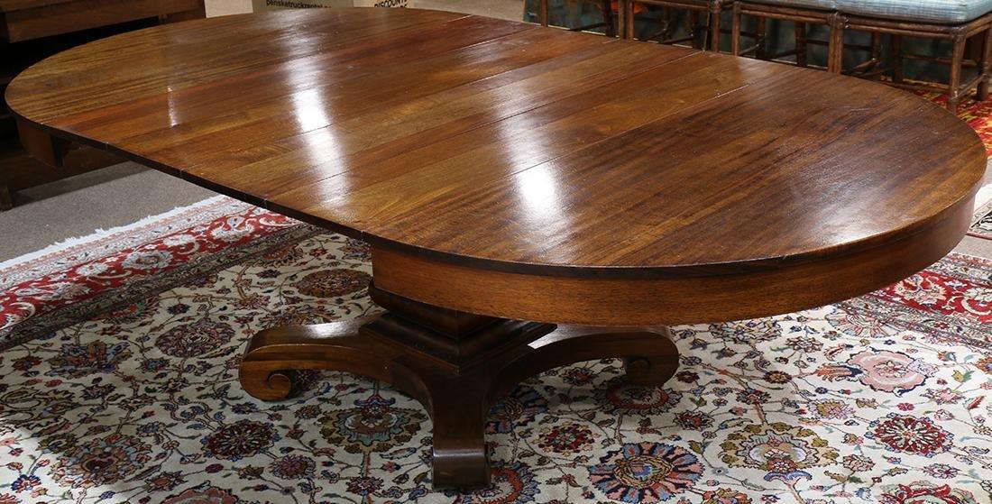 Empire style mahogany dining table, having four 10 - 2