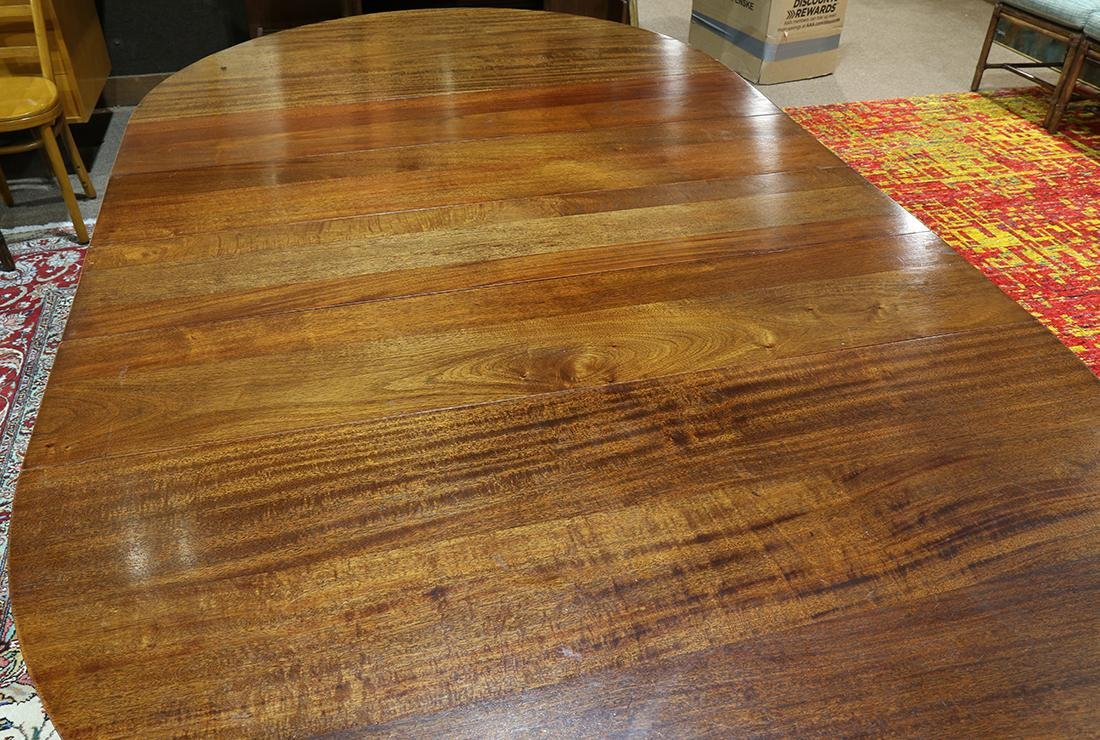 Empire style mahogany dining table, having four 10 - 3