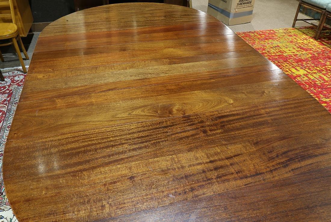 Empire style mahogany dining table, having four 10 - 3