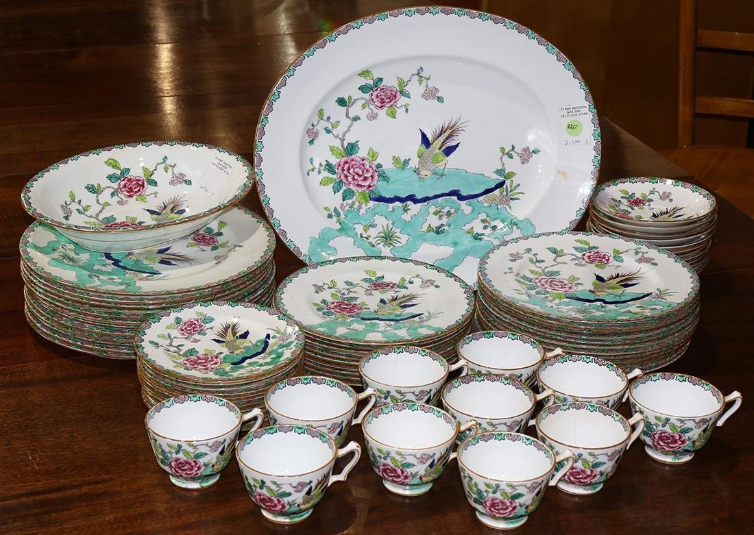 (lot of 70) Staffordshire bone china service
