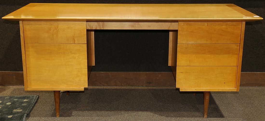 Mid-Century blondewood desk