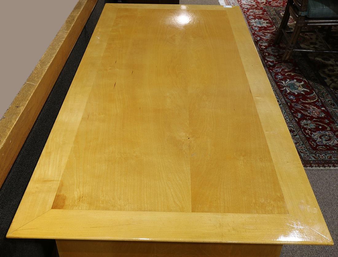 Mid-Century blondewood desk - 3