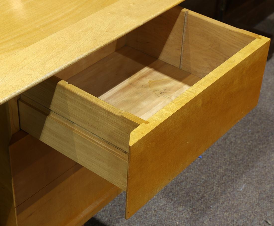 Mid-Century blondewood desk - 4