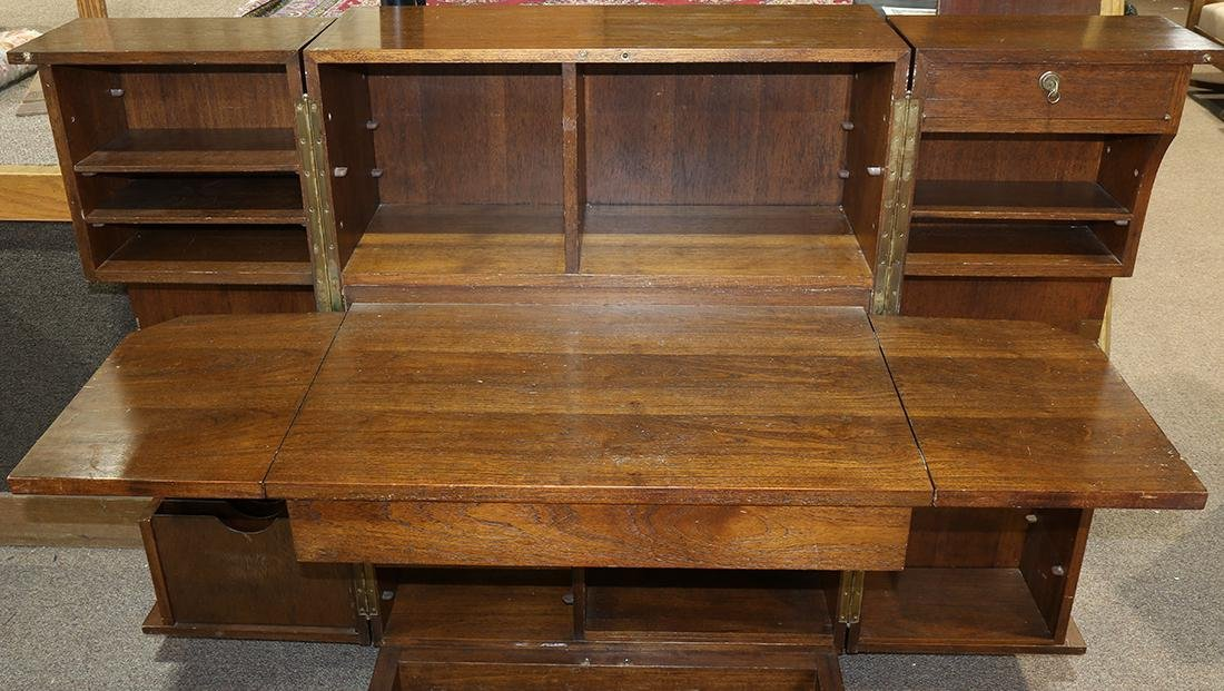 Mid-Century convertible desk, the hinged front opening - 2