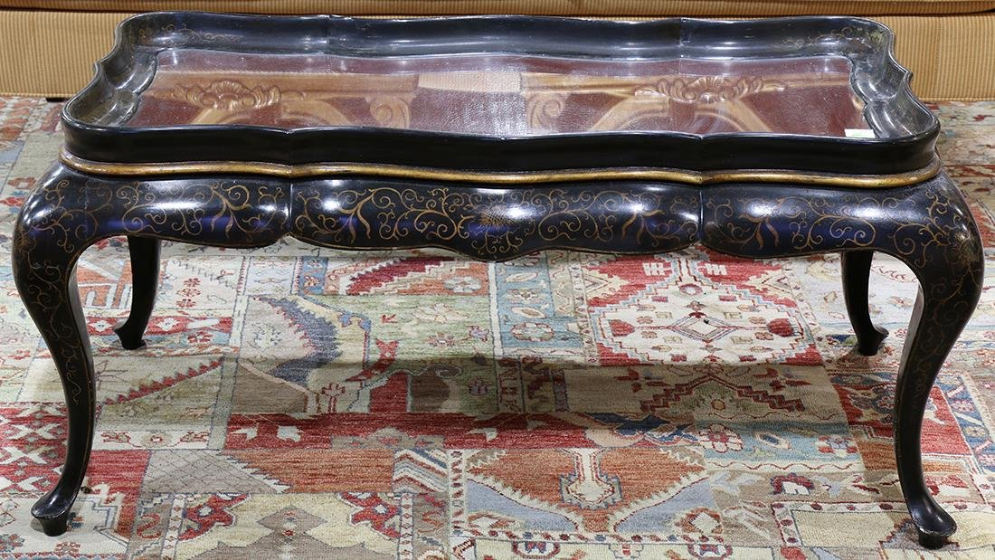 Chinoiserie style lacquered occasional table