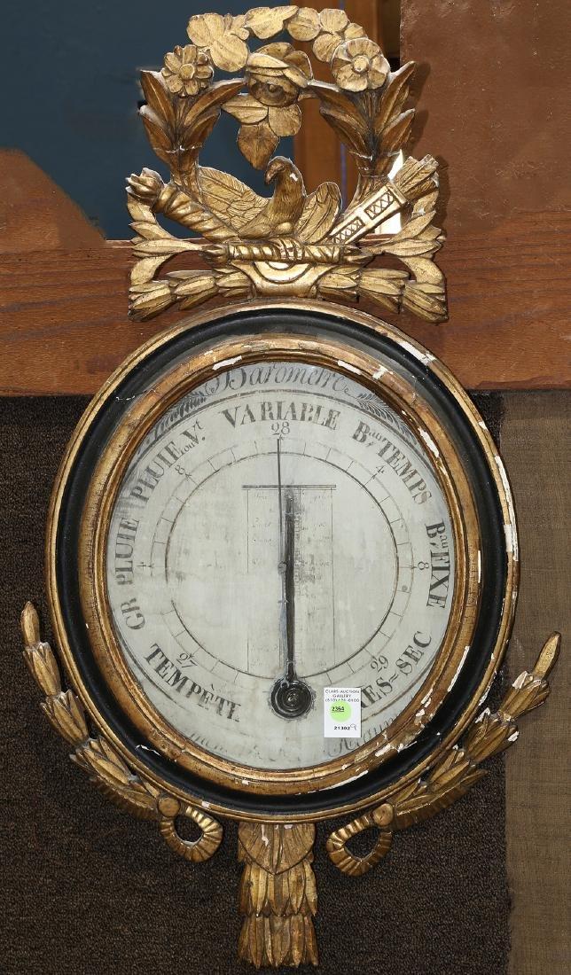 French giltwood framed barometer