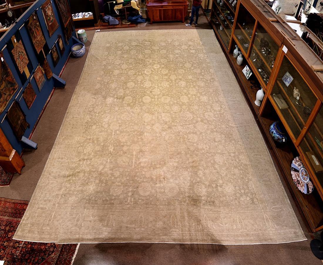 """Pakistani Oushak carpet, 22'8"""" x 16'3"""" (small slices)"""