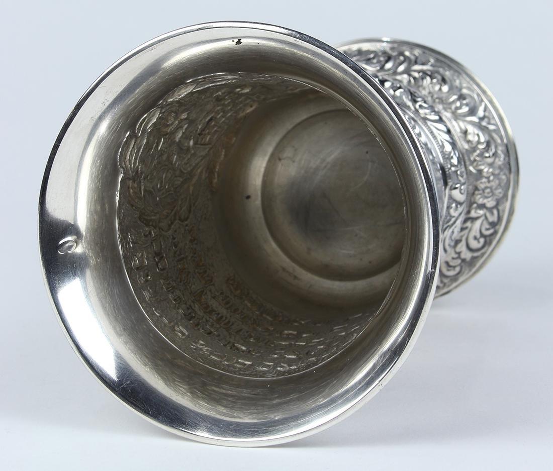 German 18th century silver Kiddush cup,  Augsburg, - 4