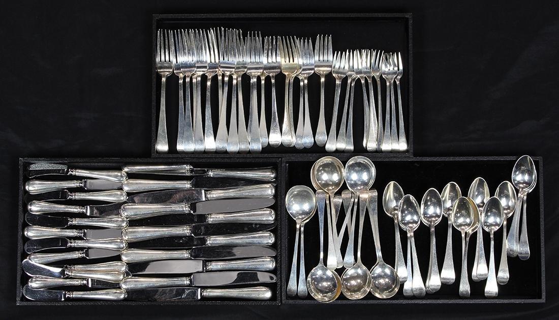 (lot of 94) Tuttle sterling silver flatware service,