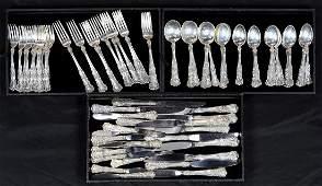 lot of 84 Gorham sterling silver flatware service