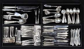 lot of 107 Towle sterling flatware service executed