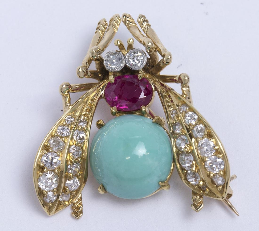 Van Cleef & Arpels turquoise, ruby, diamond and yellow - 2