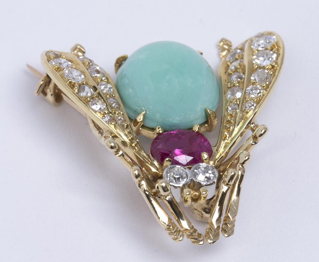 Van Cleef & Arpels turquoise, ruby, diamond and yellow - 3