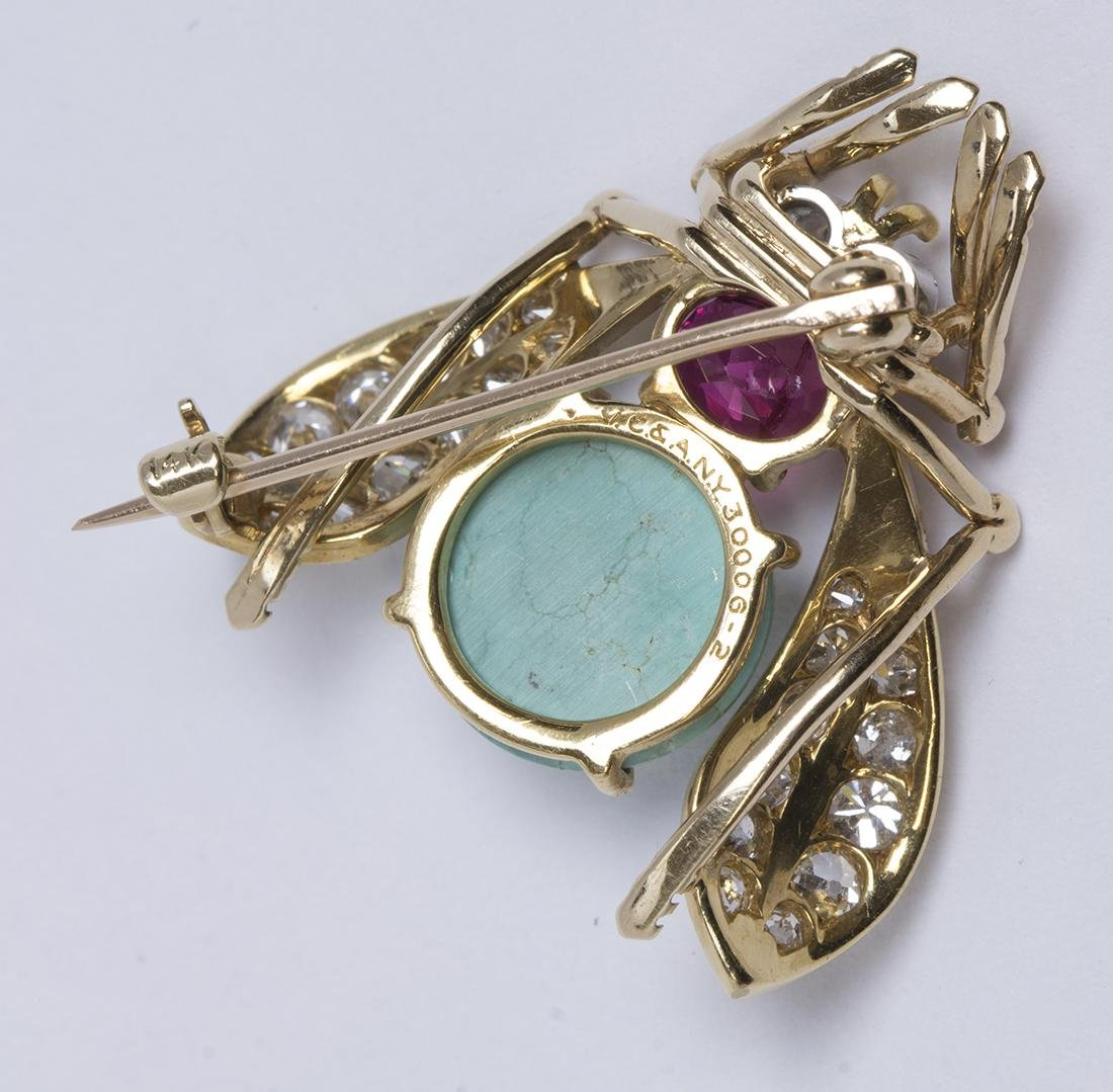 Van Cleef & Arpels turquoise, ruby, diamond and yellow - 4