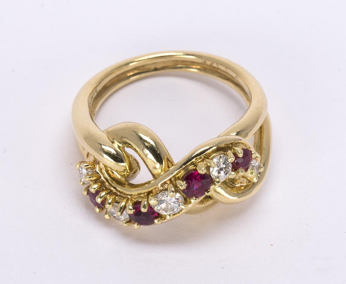 Cartier ruby, diamond and 18k yellow gold ring - 2