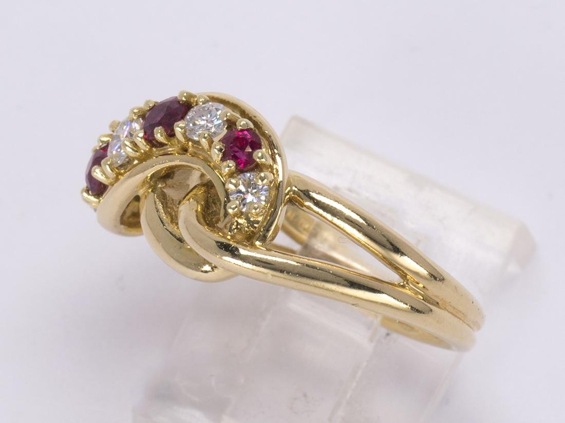 Cartier ruby, diamond and 18k yellow gold ring - 3