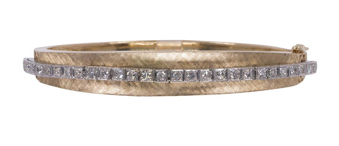 Diamond and 14k gold bracelet - 2