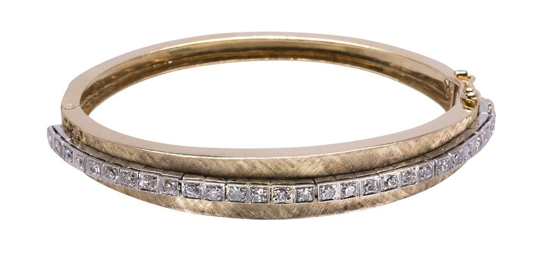 Diamond and 14k gold bracelet - 3