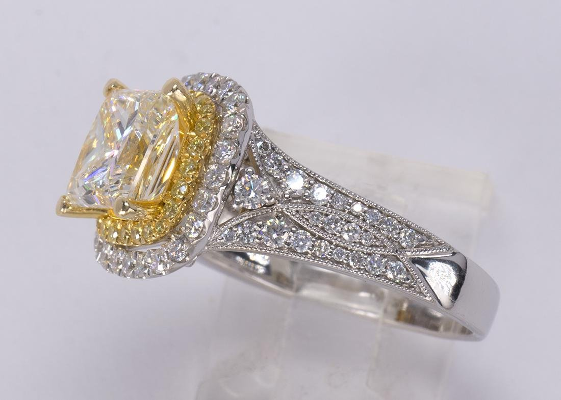 Diamond and 18k white gold ring - 2