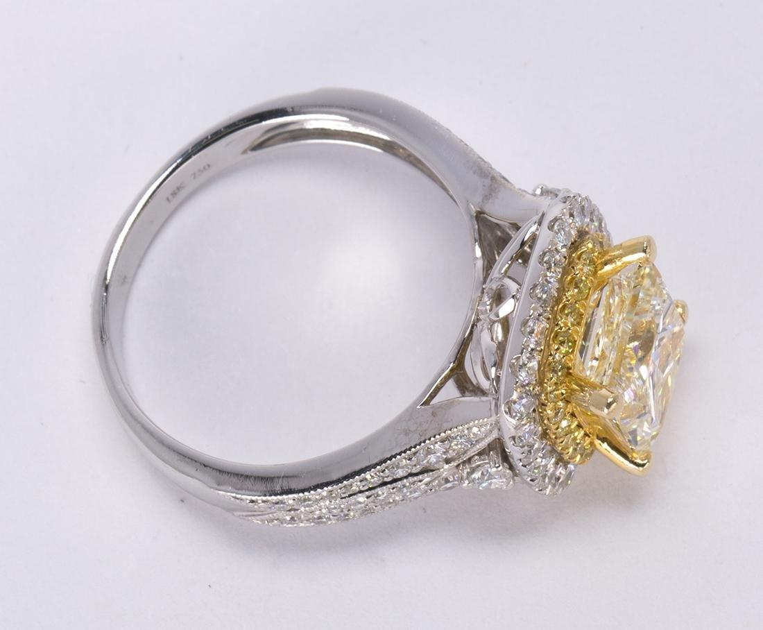 Diamond and 18k white gold ring - 4