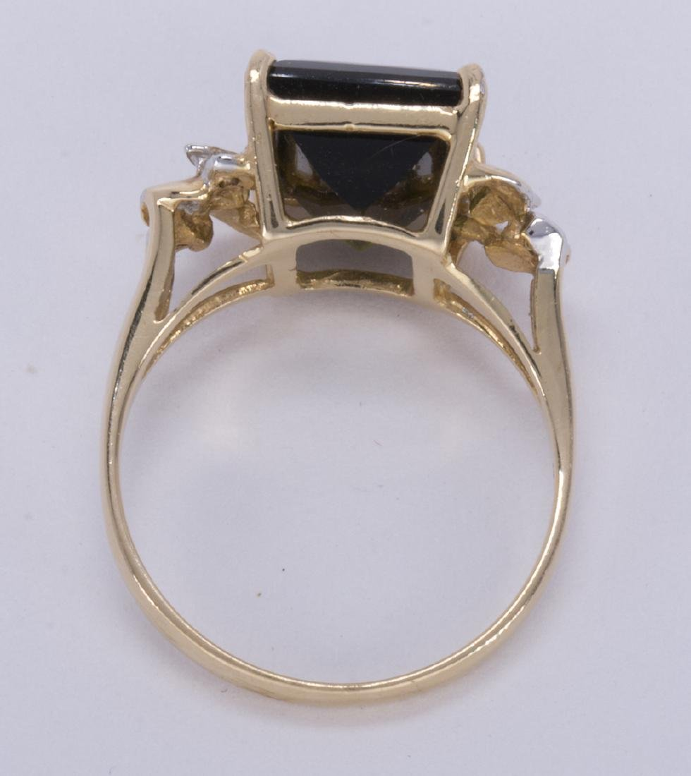 Tourmaline, diamond and 14k yellow gold ring - 3