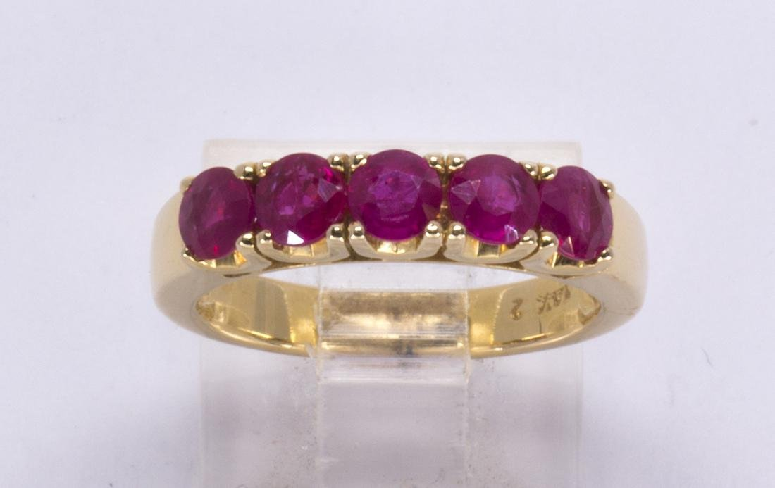 Ruby and 14k yellow gold ring