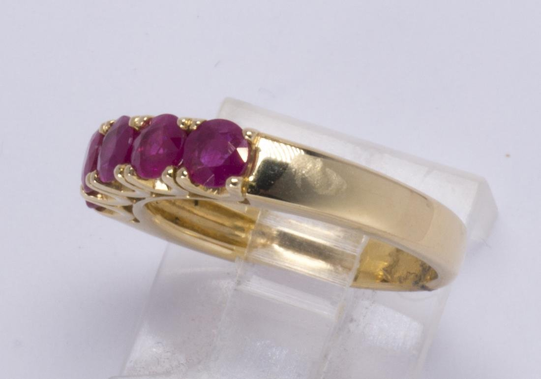 Ruby and 14k yellow gold ring - 2