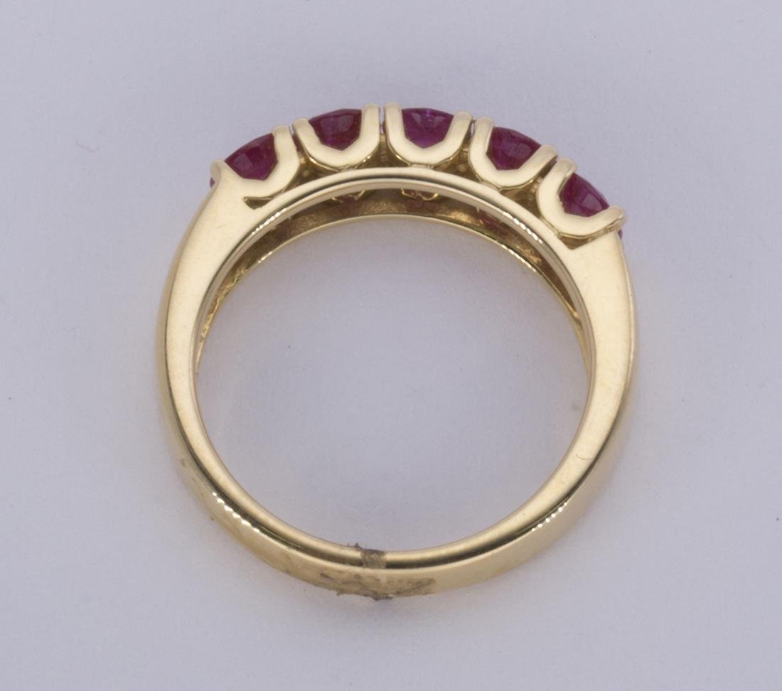 Ruby and 14k yellow gold ring - 3