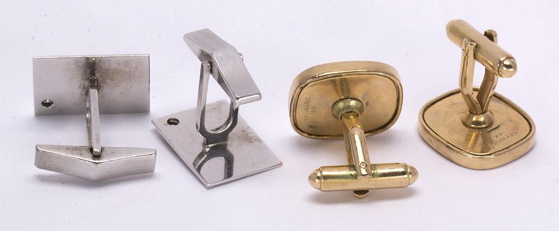 (Lot of 2) Diamond and gold cufflinks - 3