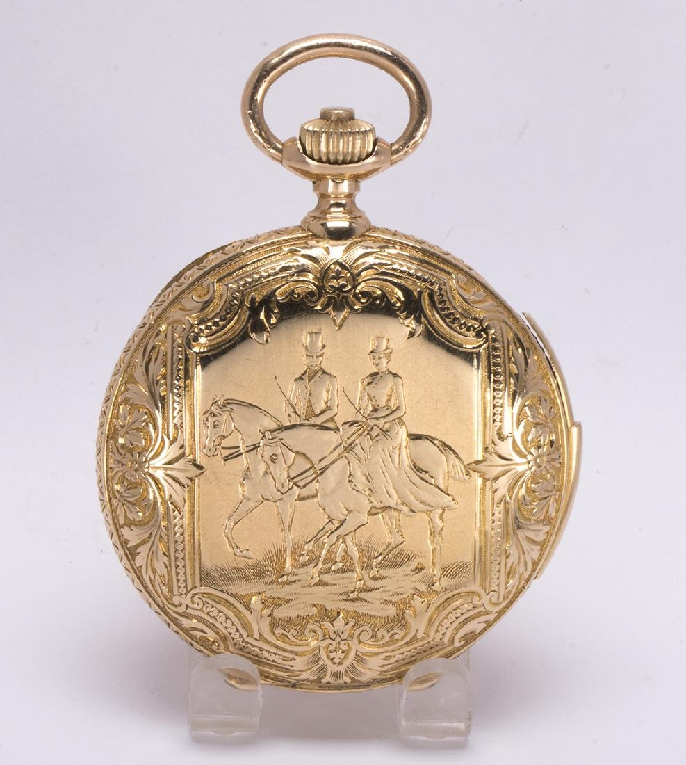 La Esmeralda 18k yellow gold minute repeater pocket - 2