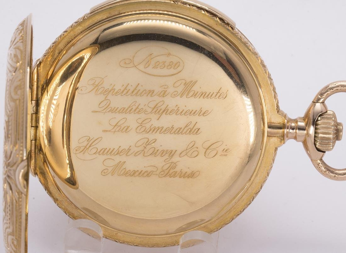 La Esmeralda 18k yellow gold minute repeater pocket - 7