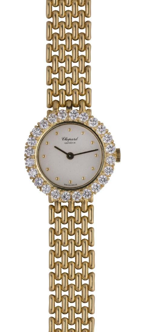 Lady's Chopard diamond and 18k yellow gold wristwatch