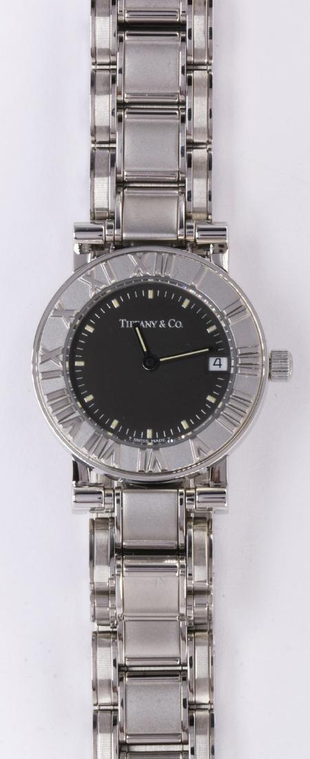 Lady's Tiffany & Co. Atlas stainless steel wristwatch