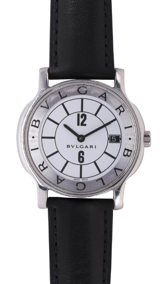Bulgari Solotempo stainless steel wristwatch