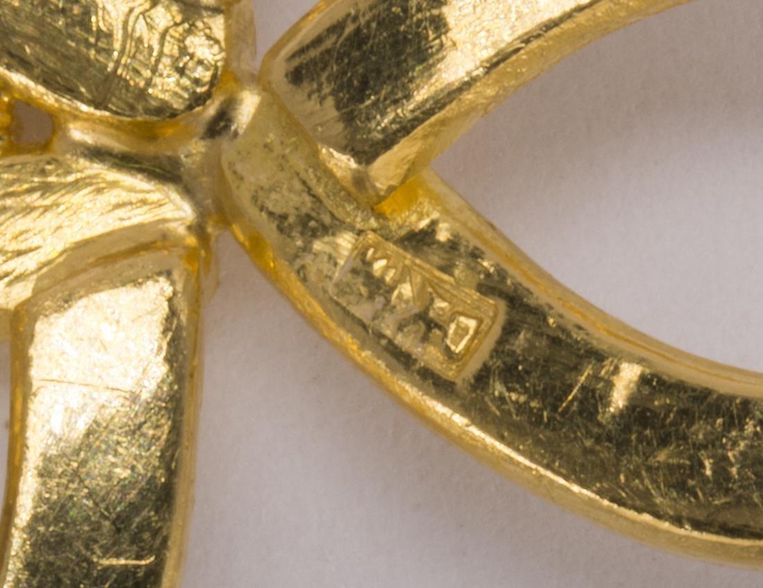 Jadeite and 22k yellow gold pendant - 3