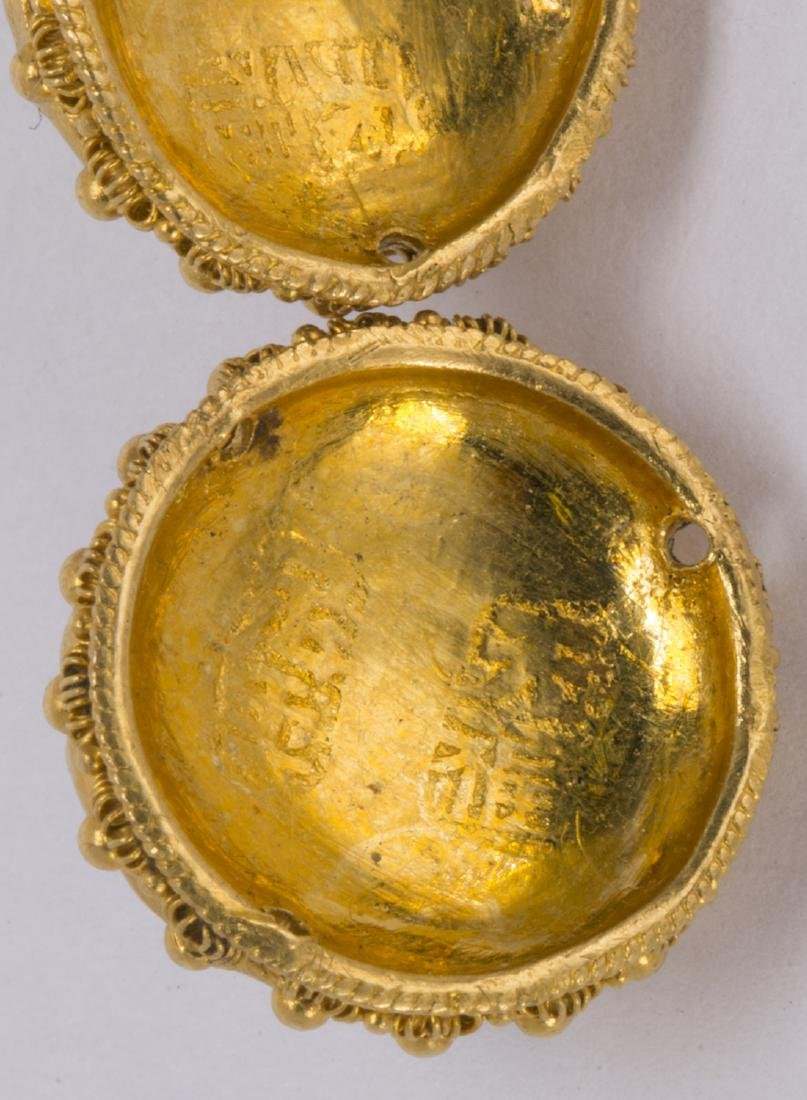(Lot of 3) Multi-stone, 22k yellow gold clothing - 4